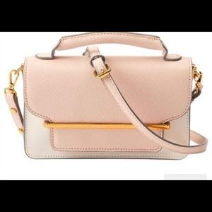 Love & Lore cross body bag in blush and ivory